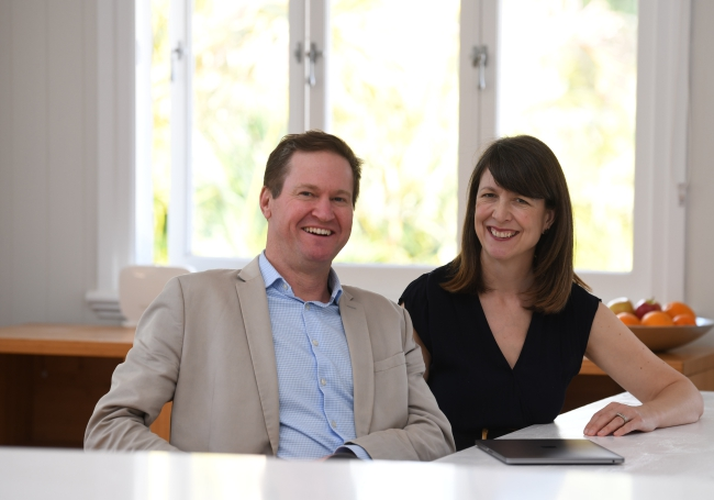 This is an image of Damien and Sophy Edmonds who are strategic marketing consultants